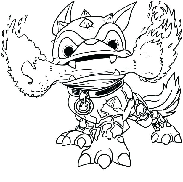 618x613 Skylanders Giants Coloring Pages Crusher Page Games Printable