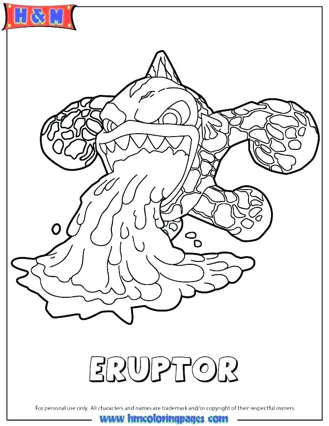 670x867 Skylanders Giants Colouring Pages Printable Coloring Also To Print
