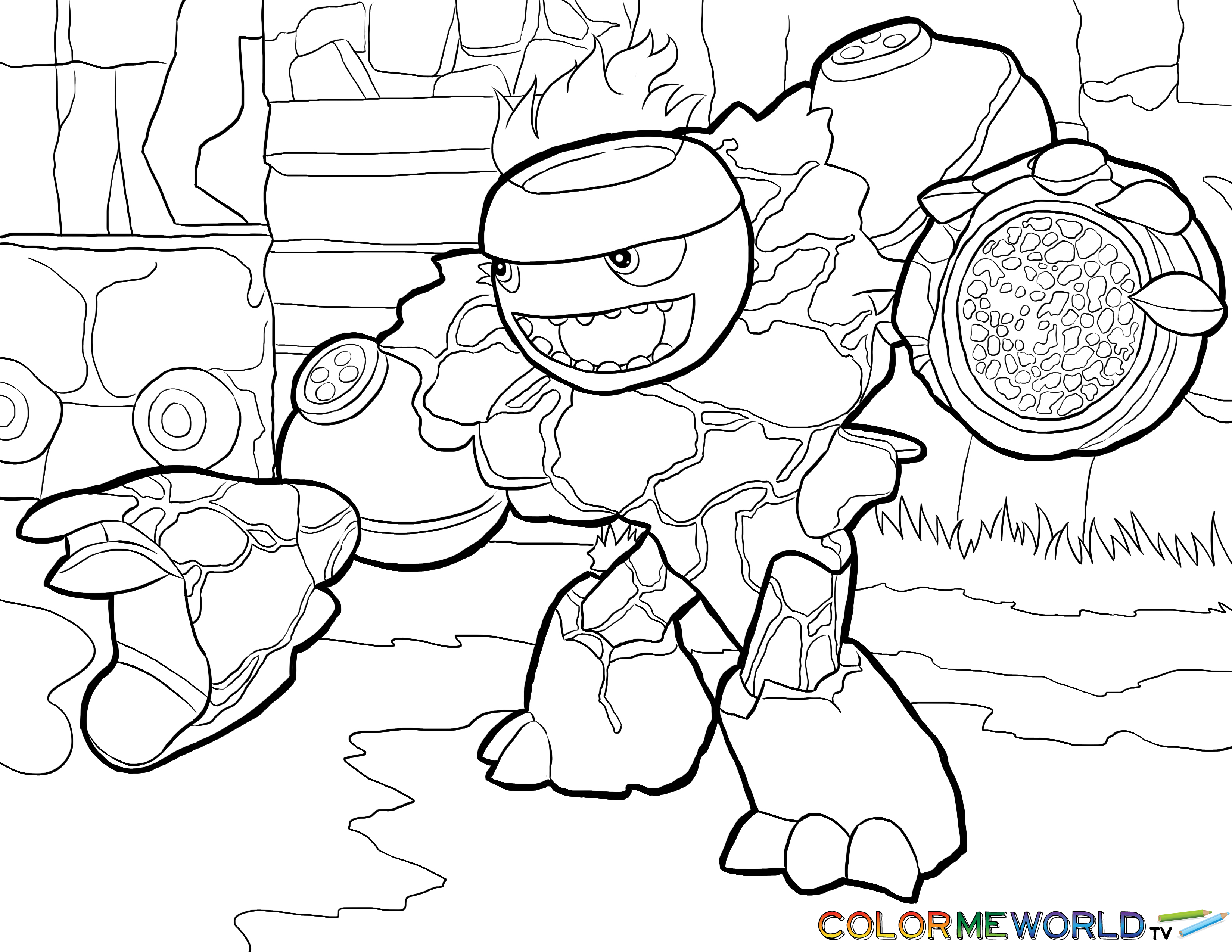 3300x2550 Skylanders Hot Head Coloring Page Hot Head Free Color Page, Download