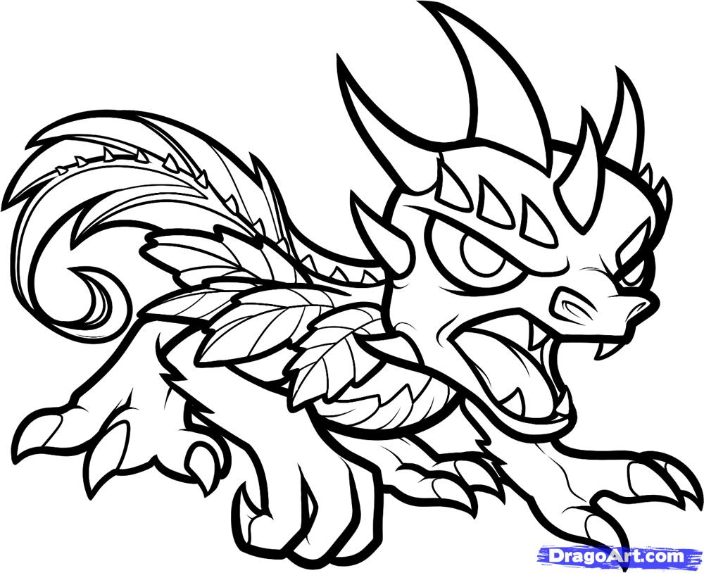 1000x814 Skylander Colouring Pages