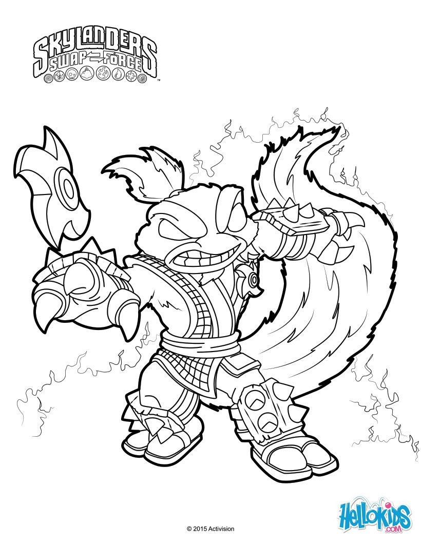 820x1060 Refundable Skylanders Swap Force Coloring Pages Stink Bomb