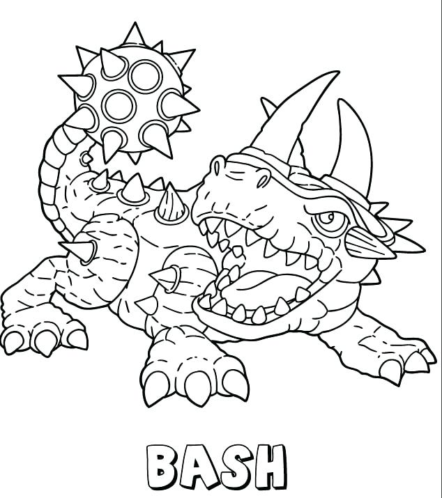 634x715 Skylanders Coloring Pages Printable Coloring Coloring Pictures