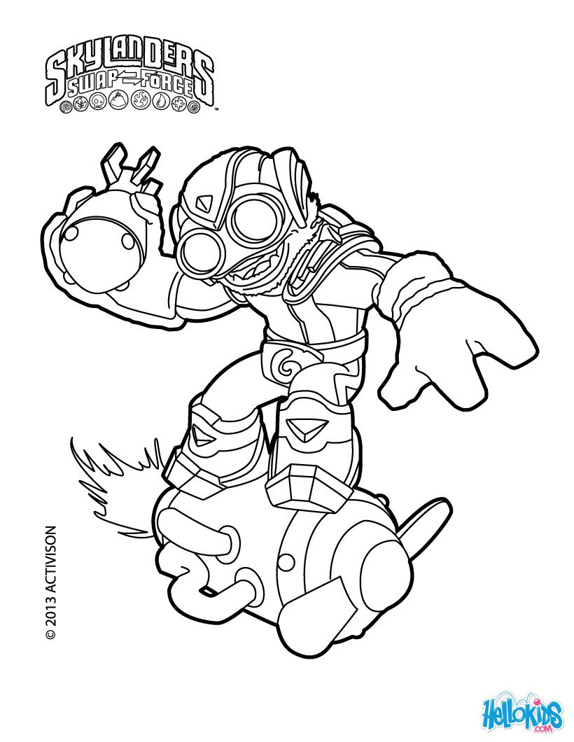 820x1060 Skylanders Swap Force Characters Colering Pages Coloring