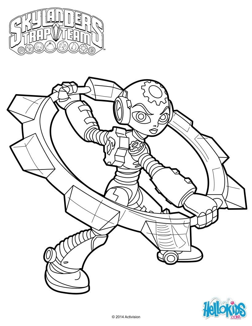 820x1060 Random Fun These Skylanders Trap Team Coloring Pages Are