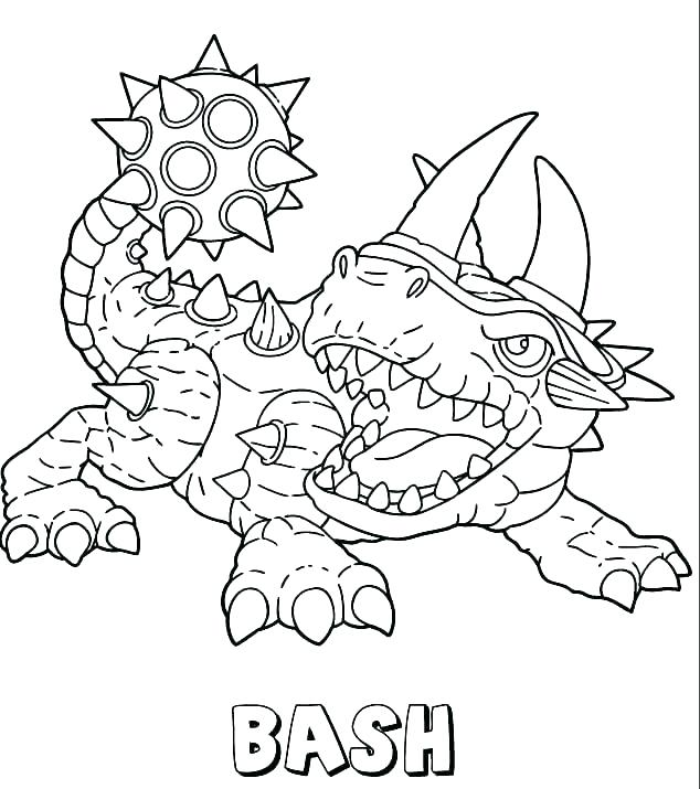 634x715 Skylanders Trap Team Coloring Pages Coloring Pages Online Giant
