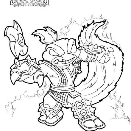 440x440 Skylanders Trap Team Coloring Pages Free Printables