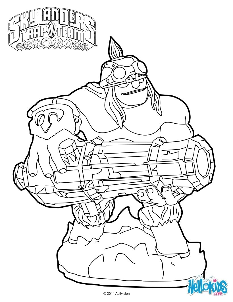 820x1060 Skylanders Trap Team Coloring Pages New Ka Boom Coloring Pages