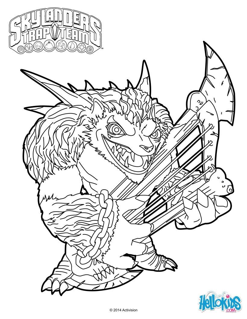 820x1060 Skylanders Trap Team Coloring Pages