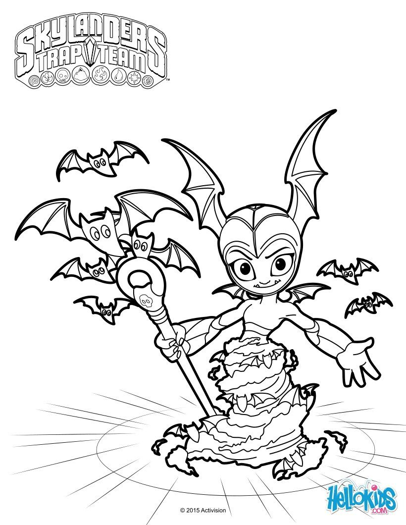 820x1060 Tbat Spin Coloring Page More Skylanders Trap Team Coloring Sheets