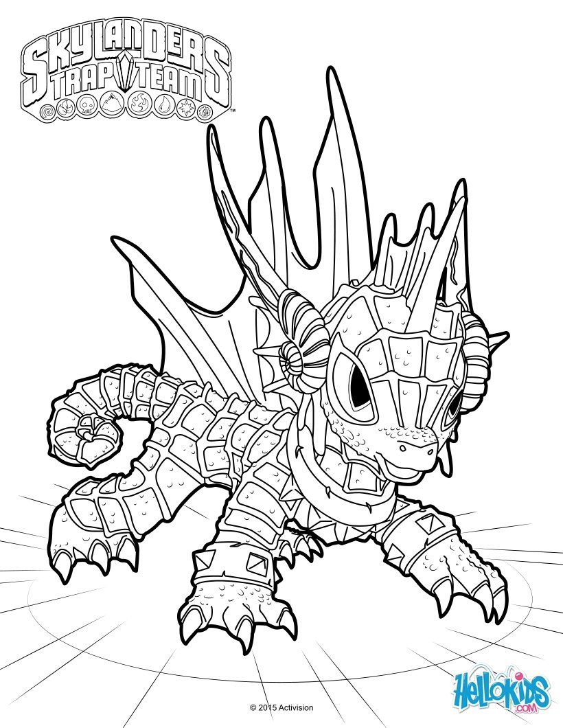 820x1060 Echo Coloring Page From Skylanders Trap Team Coloring Sheets More