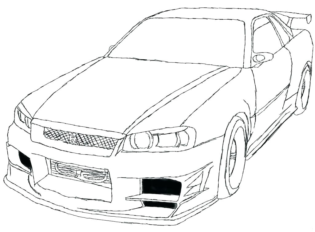 1024x755 Coloring Page Free Printable Coloring Pages Coloring Pages Nissan