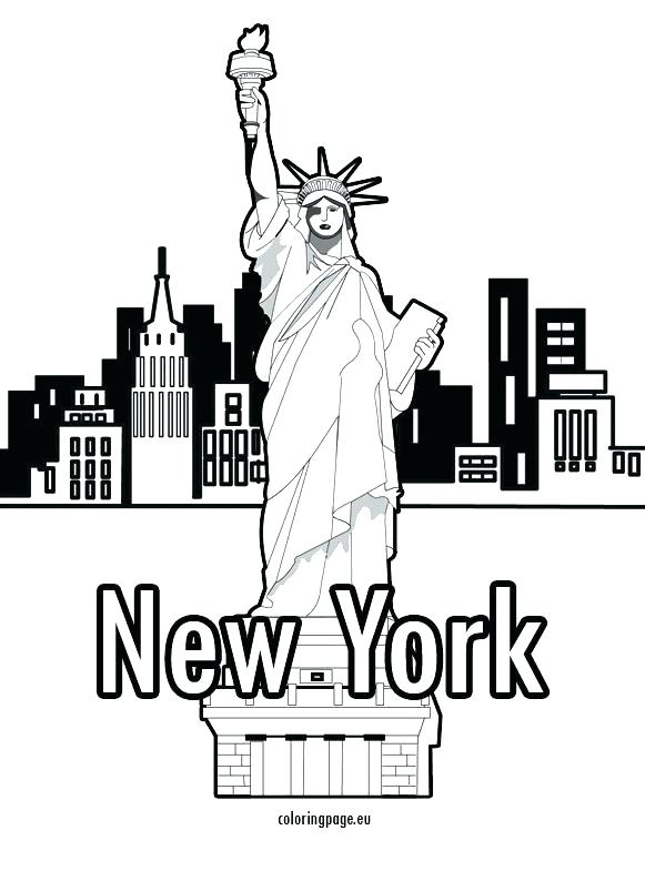 581x794 New York Coloring Pages Adult New City Skyline Coloring City