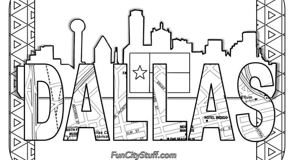 1020x560 Texas Coloring Pages
