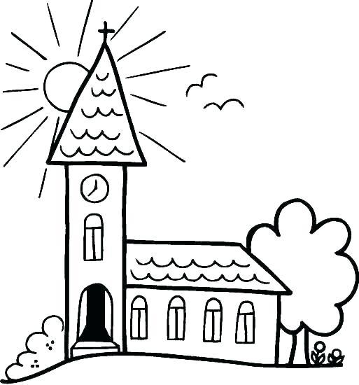 513x550 Building Coloring Page Seven Sacraments Coloring Pages Building