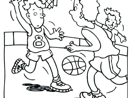 440x330 Coloring Basketball