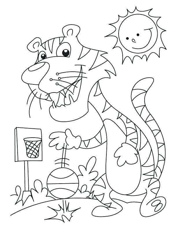 612x792 Free Basketball Coloring Pages Color Page Slam Dunk Printable