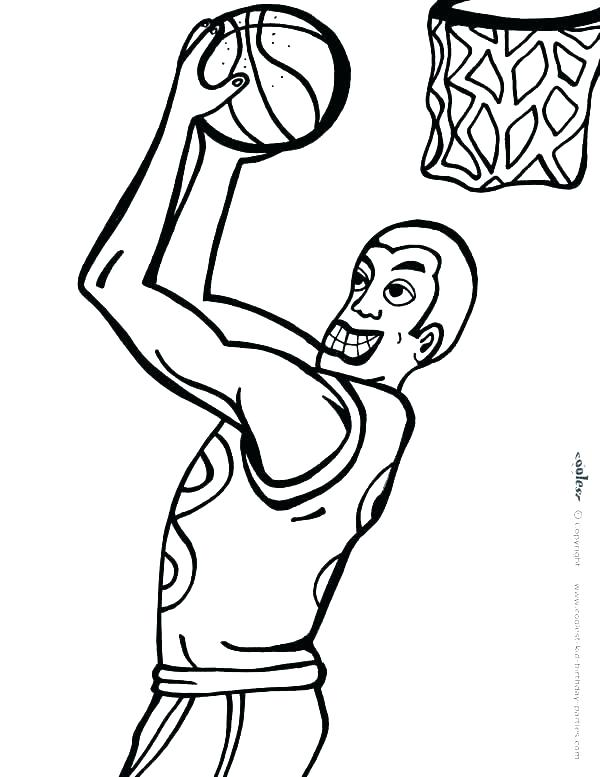 600x777 Girl Basketball Player Coloring Pages Rockets Full Size Of Slam