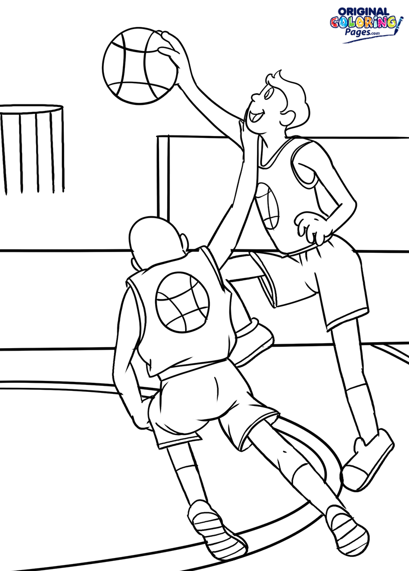 815x1138 Magnificent Slam Dunk Coloring Pages Printable Illustration