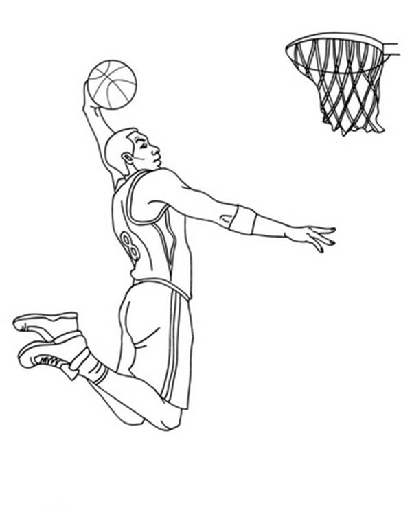 600x775 Nba Player Slam Dunk Coloring Page Color Luna