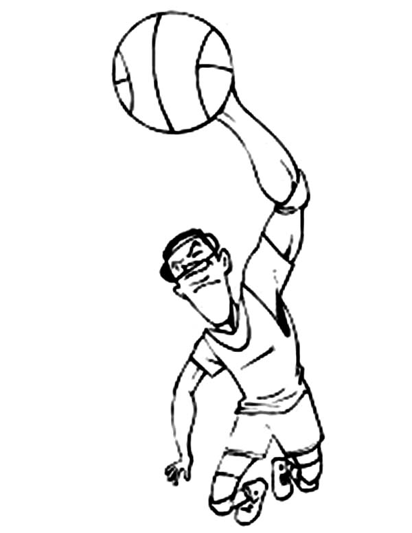 600x777 Slam Dunk Champion Of Nba Coloring Page Color Luna