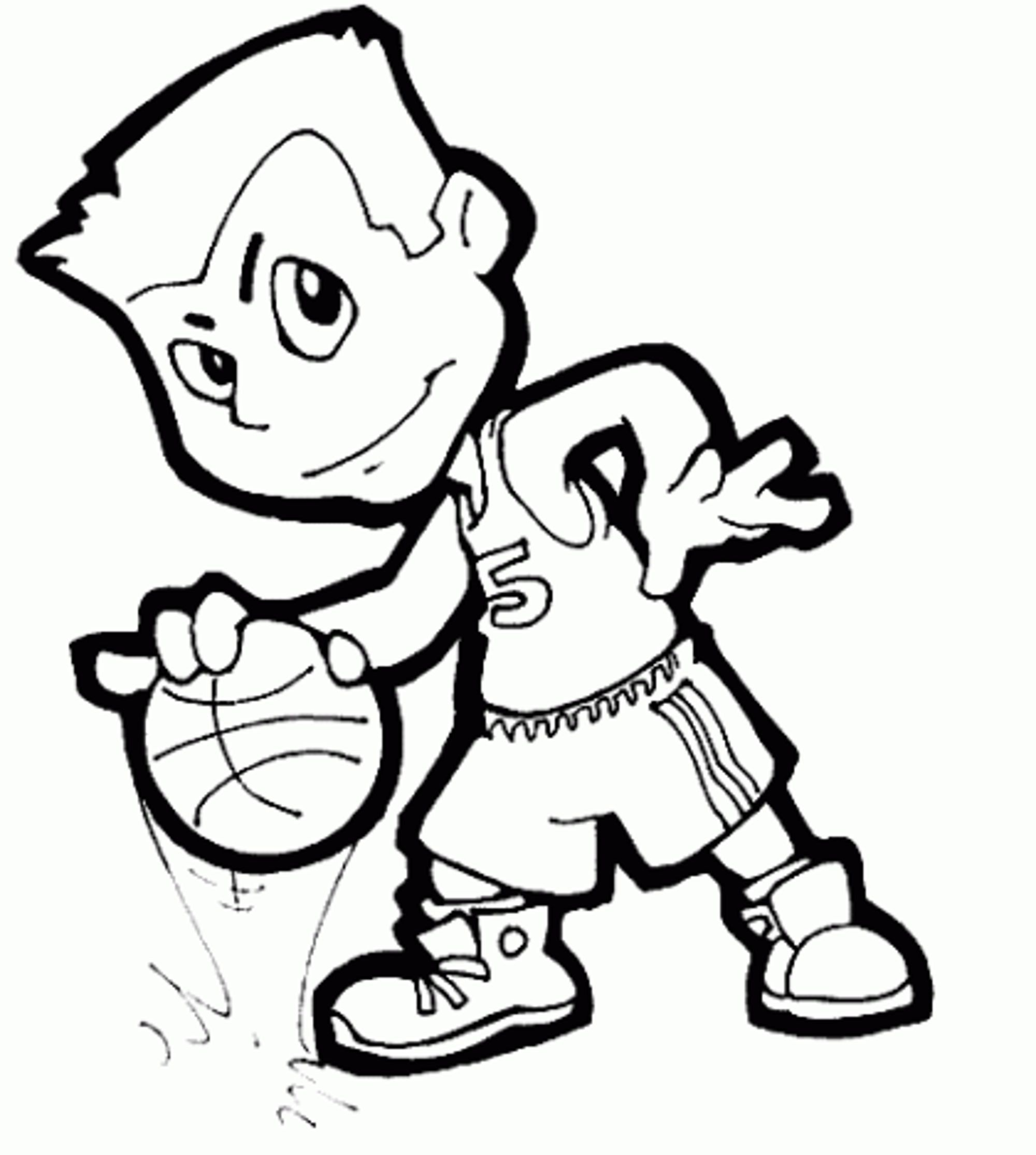 2000x2229 Basketball Coloring Pages Bestappsforkids Com Playing Page