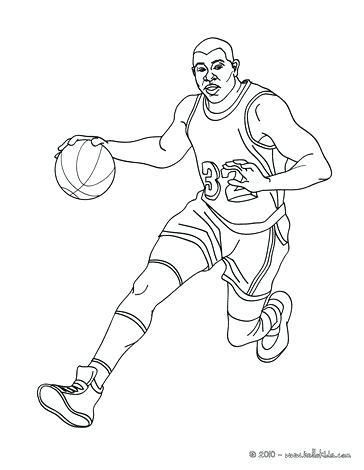 364x470 Basketball Player Coloring Page Player Slam Dunk Coloring Page