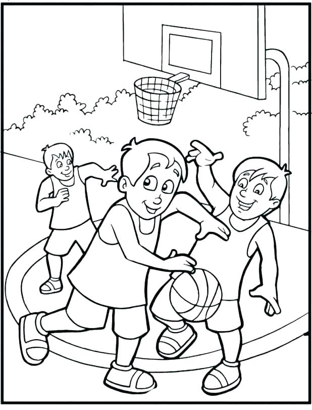 618x810 Basketball Player Coloring Pages Player Slam Dunk Coloring Page