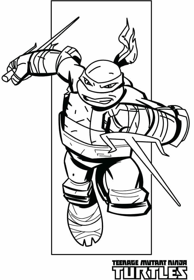 736x1061 Teenage Mutant Ninja Turtles Coloring Pages Chases Teenage Mutant