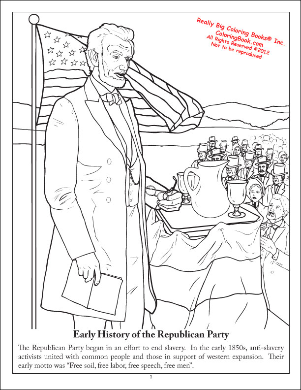 612x792 Coloring Books The Republican Party The Grand Old Party