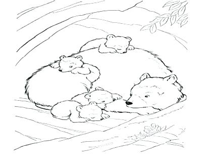 400x322 Hibernation Coloring Pages Bears Hibernation Coloring Pages
