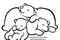210x140 Sleeping Bear Coloring Page