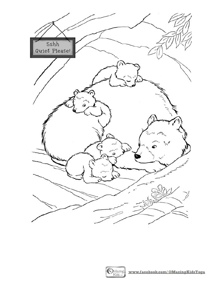 722x921 Sleeping Bear Coloring Page Omazing Kids