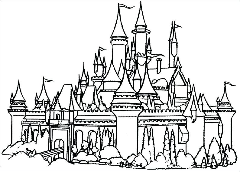794x567 Disneyland Coloring Pages Sleeping Beauty Castle Coloring Pages