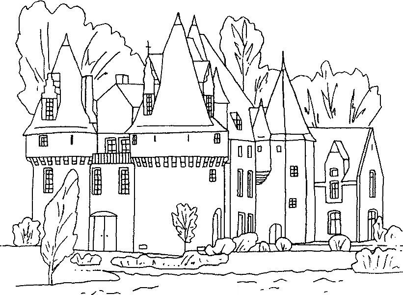 821x600 Free Printable Castle Coloring Pages For Kids