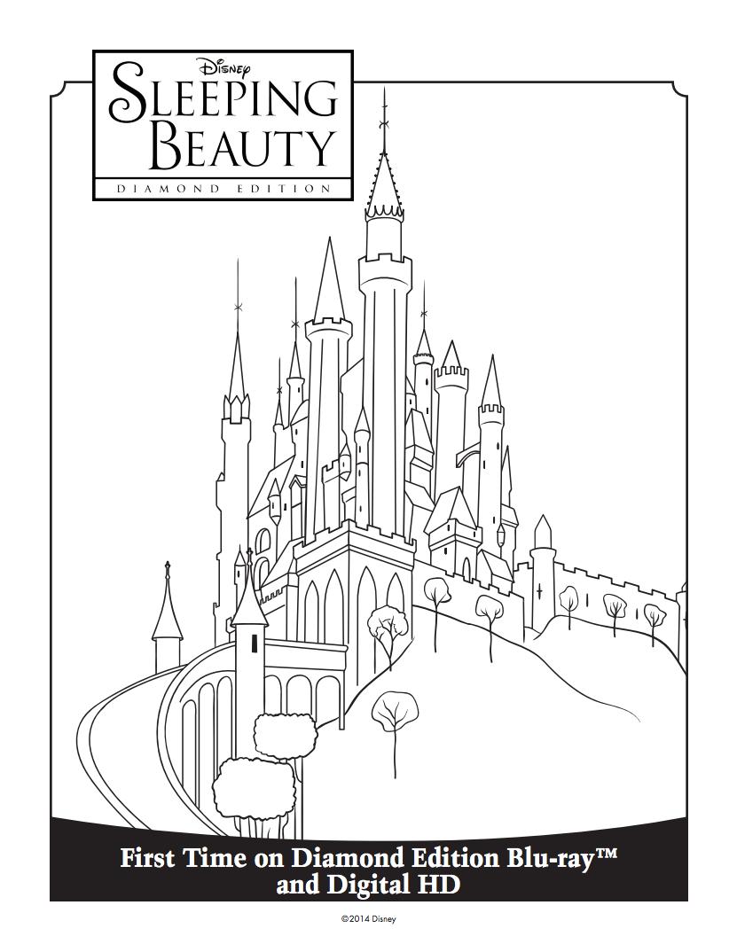 831x1074 Princess Aurora's Castle Coloring Sheet Sleeping Beauty Diamond