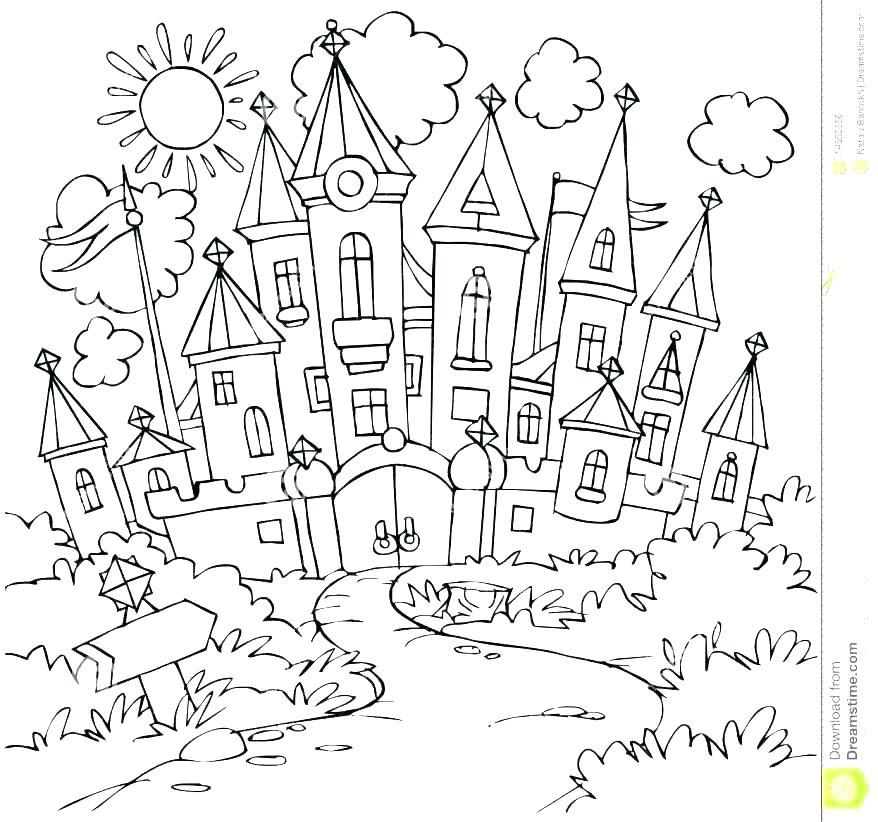 878x822 Princess Aurora Coloring Page Princess Castle Coloring Pages