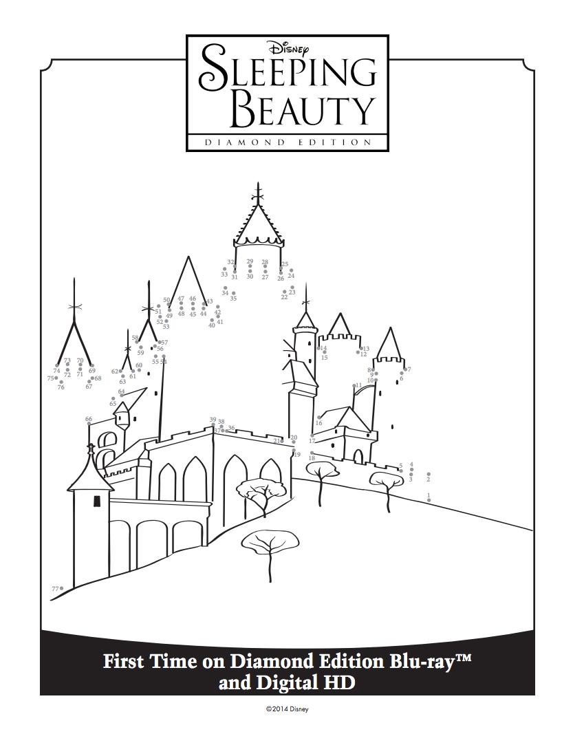 833x1067 Sleeping Beauty's Castle Connect The Dots Sleeping Beauty