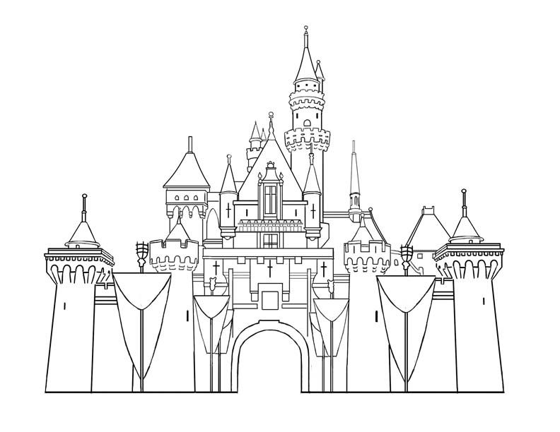 792x612 Sleeping Beauty Castle Coloring Pages