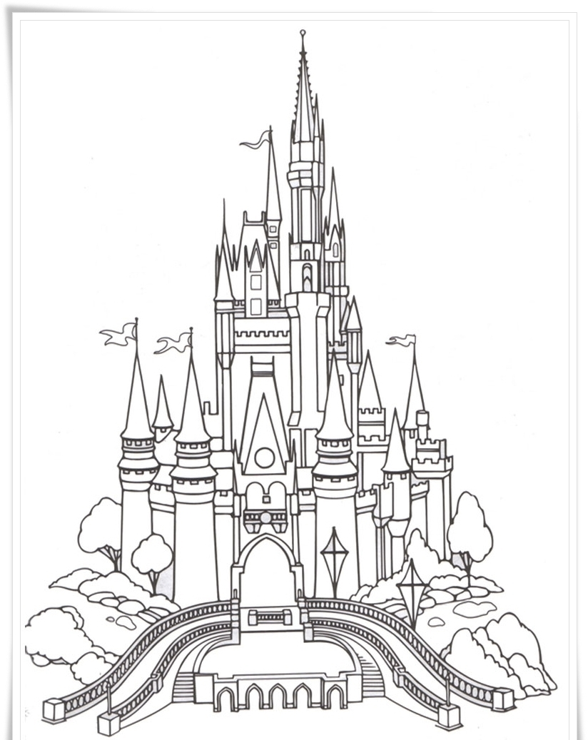 824x1037 Sleeping Beauty Castle Coloring Pages Gallery Coloring For Kids