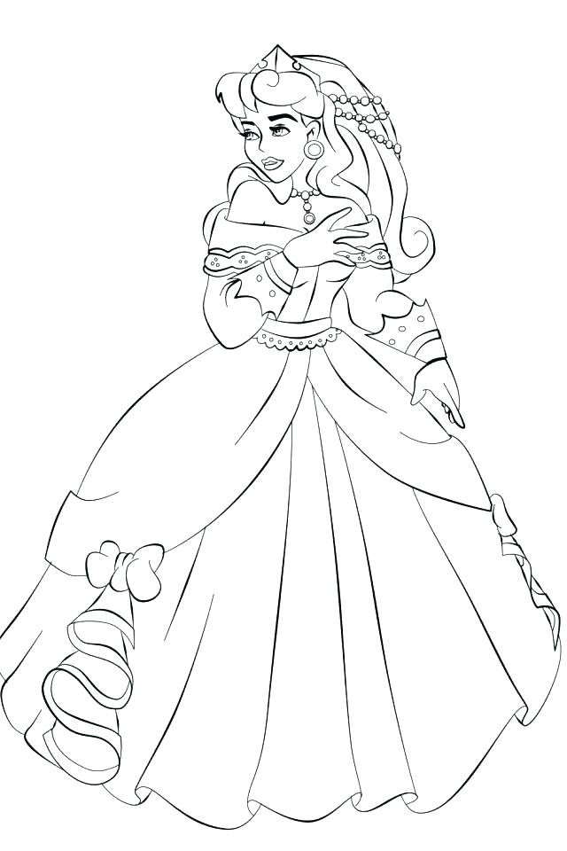 640x960 Sleeping Beauty Coloring Page Aurora Coloring Pages Free Printable
