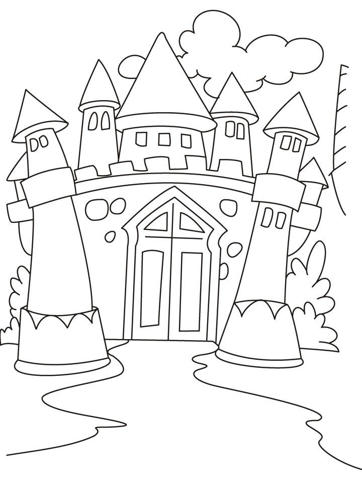 720x954 Castle Coloring Pages