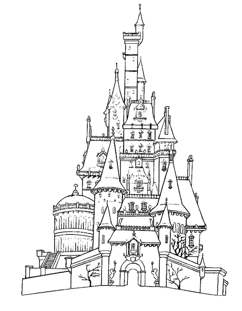 831x1066 Castle Coloring Pages