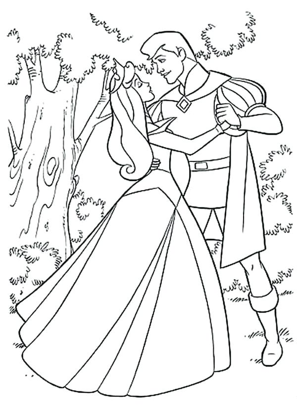 600x840 Sleeping Beauty Coloring Pages Doll Palace Download Free