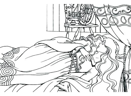 518x381 Sleeping Beauty Coloring Pages Sleeping Beauty Coloring Pages