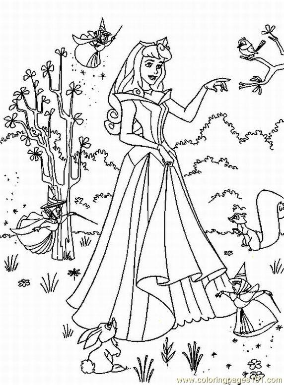 572x777 Sleeping Beauty Coloring Pages To Print