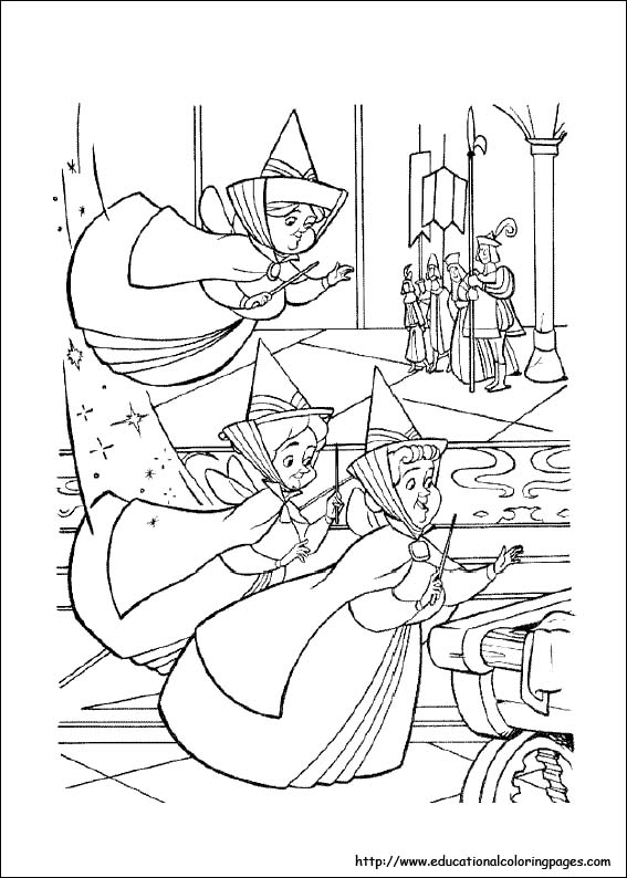 567x794 Sleeping Beauty Coloring Pages Free For Kids