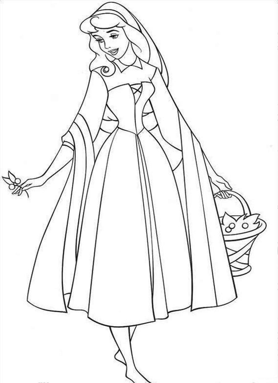 900x1240 Free Printable Sleeping Beauty Coloring Pages For Kids Sleeping