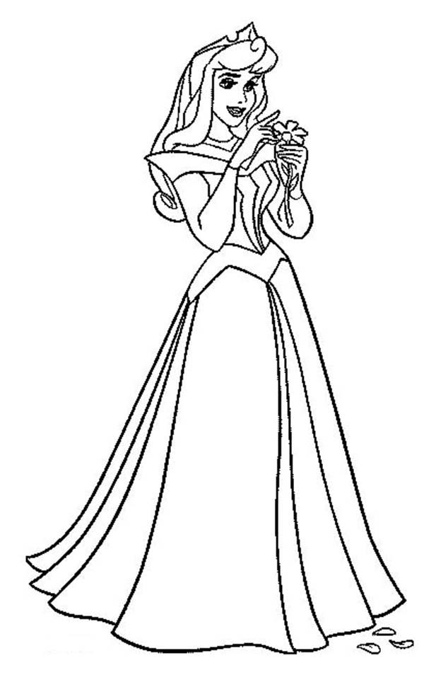 600x954 Princess Aurora Count Her Luck In Sleeping Beauty Coloring Page