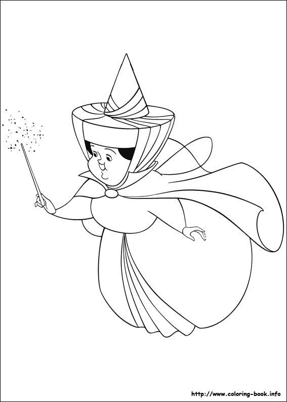 Sleeping Beauty Fairies Coloring Pages