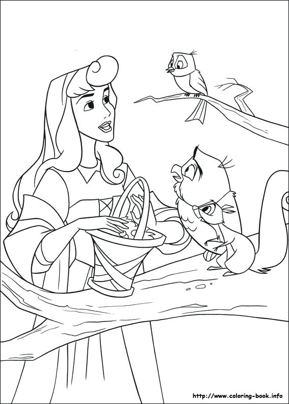 567x794 Princess Sleeping Beauty Aurora Colouring Pages Free For Princess